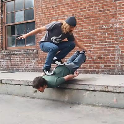 Human Skateboard Pixilation
